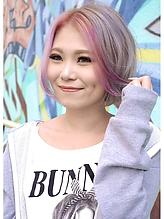 [b:Ash]ホワイトアッシュ×ベビーピンク|hair b:Ashのヘアスタイル