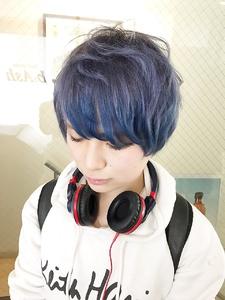 【アメ村 b:Ash】Ikedai特製カラーバターブルー|hair b:Ashのヘアスタイル