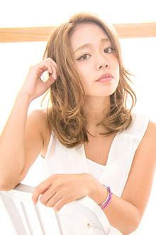 【アメ村b:Ash】ふんわりセミディ☆|hair b:Ashのヘアスタイル
