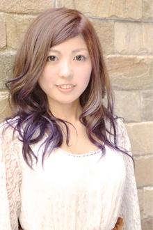 ブルーバイオレットグラデーション|hair b:Ashのヘアスタイル