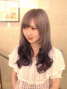 オススメ☆毛先にダークラベンダー☆|hair b:Ashのヘアスタイル