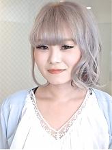 【アメ村b-Ash】シルバーフワゆるボブ☆|hair b:Ashのヘアスタイル