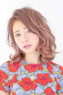 【アメ村b:Ash】スウィートピンクベージュ☆|hair b:Ashのヘアスタイル