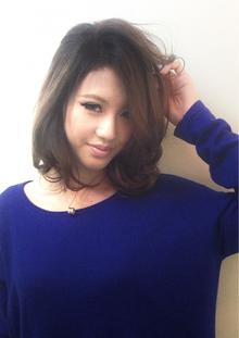 スモーキーベージュ☆グラデーション♪|hair b:Ashのヘアスタイル