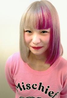 ☆ チェリー ON プラチナアッシュ☆|hair b:Ashのヘアスタイル