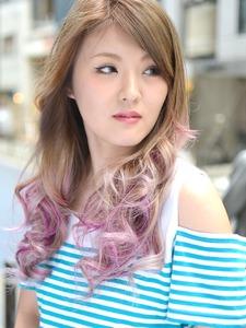 【アメ村 b:Ash】 レモンシャーベット&パープルラベンダー☆|hair b:Ashのヘアスタイル