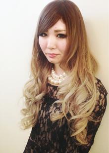 ショコラベージュ☆グラデーション♪|hair b:Ashのヘアスタイル