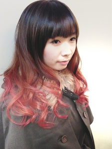 紅葉もみじ秋のグラデカラー☆|hair b:Ashのヘアスタイル