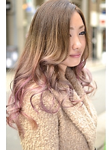 【アメ村 b:Ash】グラデーションカラーでイメチェン|hair b:Ashのヘアスタイル