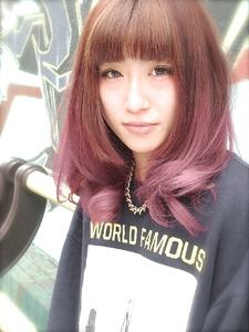 アメ村【b:Ash】黒染めOff!!!ピンクシャーベットグラデーション|hair b:Ashのヘアスタイル