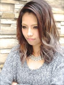 【アメ村b:Ash】最旬!ダークアッシュグラデーション!! hair b:Ashのヘアスタイル