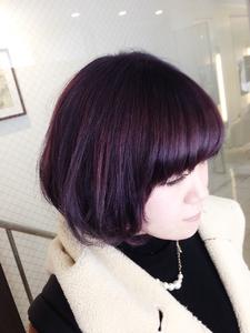 【アメ村 b:Ash】ふっくらラウンドボブ|hair b:Ashのヘアスタイル