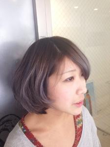 【アメ村 b:Ash】パープルアッシュボブ|hair b:Ashのヘアスタイル