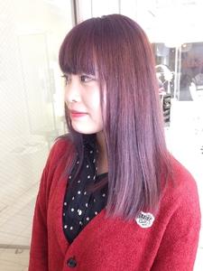 【アメ村 b:Ash】パープルグラデーション♪|hair b:Ashのヘアスタイル