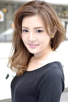【アメ村 b:Ash】外国人風カラー☆ミルクティグラデーション|hair b:Ashのヘアスタイル