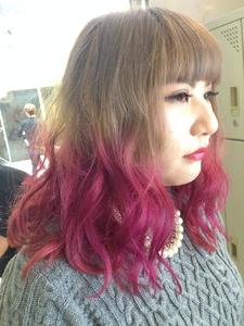 【アメ村 b:Ash】グラデーションカラー|hair b:Ashのヘアスタイル