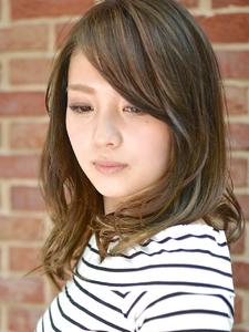 【アメ村 b:Ash】外国人風ツヤカラー☆|hair b:Ashのヘアスタイル