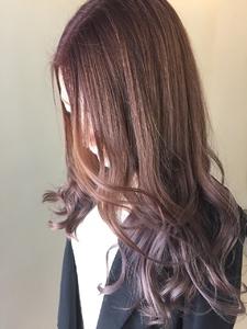 [アメ村b:Ash]ピンクアッシュアメジストグラデーション☆|hair b:Ashのヘアスタイル