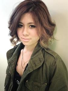 オリーブアッシュ☆グラデーション hair b:Ashのヘアスタイル