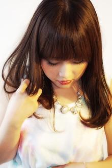 【ロング】ツヤ×milk brown|aurum hair&spa 下北沢のヘアスタイル