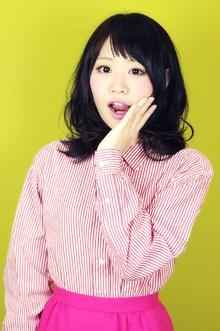 【ミディアム】naname×bangs|aurum hair&spa 下北沢のヘアスタイル