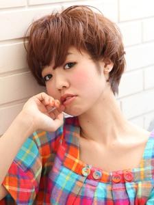 ベリーキュート〜マッシュ〜ショートボブ|Lbaccia 渋谷宮益坂店のヘアスタイル