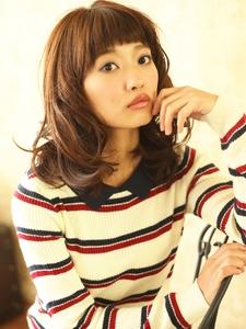 ♪大人かわいい♪マッシュバング♪可愛いカール♪|Lbaccia 渋谷宮益坂店のヘアスタイル