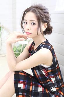★sCene★ ルーズ編みシニオン|sCene northのヘアスタイル