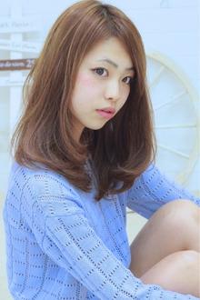 ☆sCene☆ ナチュラルセミディ|sCene northのヘアスタイル