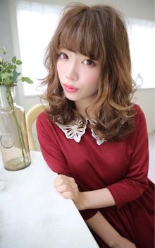 ☆sCene☆セミディークセ毛風パーマスタイル|sCene ESTのヘアスタイル