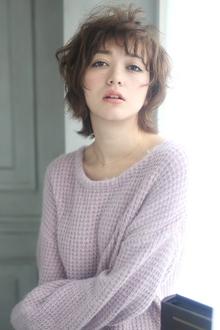 ★sCene★ 外国人風ヌーディーshort sCene ESTのヘアスタイル