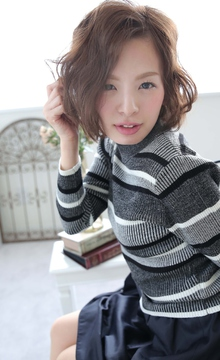 ☆sCene☆ウェーブ ボブ|sCene ESTのヘアスタイル