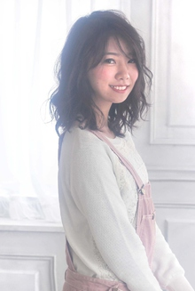 ☆sCene est☆ 伸ばしかけパーマ|sCene ESTのヘアスタイル