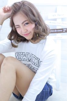 ☆sCene☆ 甘甘ミディ|sCene ESTのヘアスタイル
