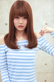 ☆ナチュラルバングセミディ|GALLARIA Elegante 春日井店のヘアスタイル