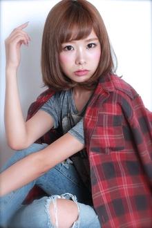 ☆小顔ひし形ワンカールボブ GALLARIA Elegante 春日井店のヘアスタイル