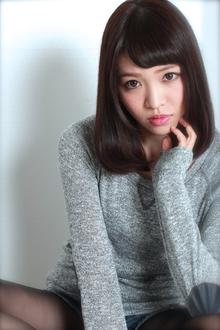 ☆暗髪×艶ミディアム GALLARIA Elegante 春日井店のヘアスタイル