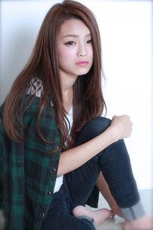 ☆暗髪ナチュラルロング|GALLARIA Elegante 春日井店のヘアスタイル