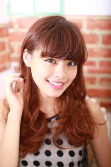 重め前髪フェミニンロング|GALLARIA Elegante 春日井店のヘアスタイル