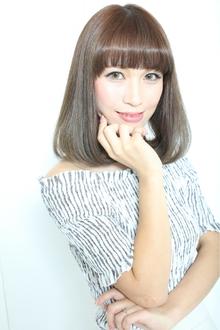 小顔に見えるナチュラルボブディ☆|Rue D'or 春日井店のヘアスタイル
