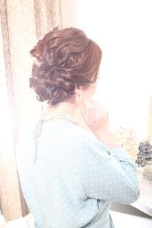 結婚式,二次会にオススメ☆やわらかヘアセット|Rue D'or 春日井店のヘアスタイル