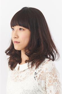 目力UPのナチュラル系大人ヘア|Hair Make SAMSARA 宮脇店のヘアスタイル