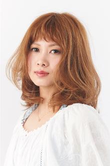 キュートな柔らかシフォンカール|camellia HAIR イオンモール高松店のヘアスタイル