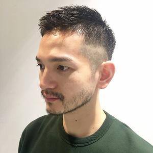 バーバー的なフェードスキン|Hip's eyes 大宮店のヘアスタイル