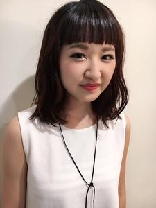 眉上ワイドバングボブ|Hip's eyes 大宮店のヘアスタイル