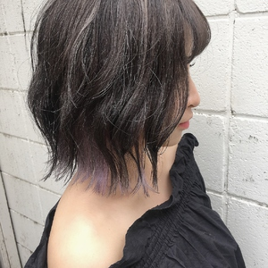 パープルインナーカラー|Hip's eyes 大宮店のヘアスタイル