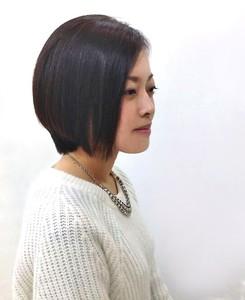 前下がりナチュラルボブ☆|Hip's deco 大宮店のヘアスタイル