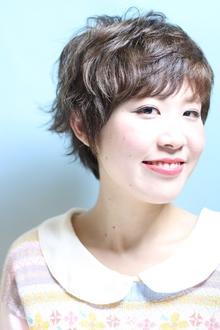 こなれ感エアリーーショート☆ミルキーベージュ|Hip's deco 大宮店のヘアスタイル