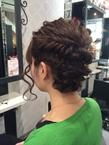 波ウェーブ×フィッシュボーンアップ|Hip's deco 大宮店のヘアスタイル