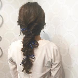 ツイスト編み込み☆|Hip's deco 大宮店のヘアスタイル